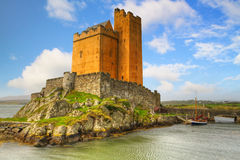 Kilcoe castle. On the coast of Co. Cork, Ireland Royalty Free Stock Photo
