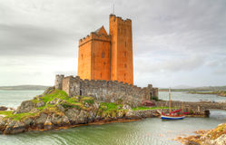 Kilcoe castle in Co. Cork, Ireland Royalty Free Stock Photography