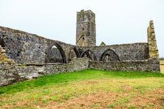 KILCREA, ИРЛАНДИЯ - 28-ОЕ НОЯБРЯ: Friary Kilcrea 28-ого ноября 2012 в Co.Cork, Ирландии Стоковые Изображения