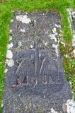 Kildalton burial slab Stock Photography