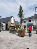 Kildare village. Outlet luxury shopping center in Ireland royalty free stock image