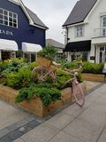 Kildare village. Outlet luxury shopping center in Ireland stock image