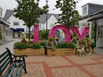 Kildare village. Shopping center in Ireland royalty free stock image