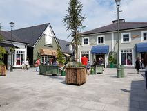 Kildare village. Shopping centre in Ireland stock images