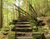 Kildo Trail - McConnells Mill State Park - Portersville, Pennsylvania. McConnells Mill State Park, Portersville, Pennsylvania Royalty Free Stock Photos