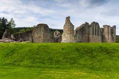 Kildrummy-Schlossabzugsgraben und Überreste Großbritannien Schottland Lizenzfreies Stockfoto