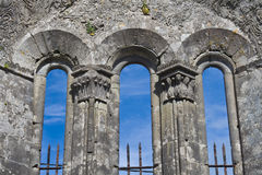 Kilfenora cathedral. Details of the Kilfenora cathedral in Ireland stock image