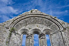 Kilfenora cathedral. Details of the Kilfenora cathedral in Ireland stock images