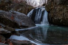 Kilgore Falls in Rocks State Park royalty free stock image