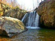 Kilgore nedgångar, fallande filial, vaggar delstatsparken, Maryland Arkivbild