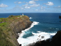 Kilhauea Point NWR on Kauai. The kilhauea lighthouse stands on the northern most point of the hawaian islands on the island of kauai in the kilhauea point Stock Photography