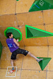Kilian Fishhuber, bouldering qualification Royalty Free Stock Image