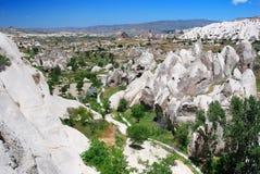 Kiliklar valley in Cappadocia royalty free stock photography