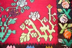 Kilim, couverture traditionnelle de laines Photographie stock libre de droits