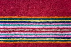Kilim detail. An old red kilim close up Royalty Free Stock Images