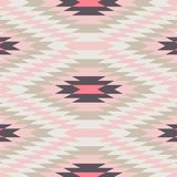 Kilim pattern pink, white and cream - Vector. Geometric Pattern - pink, white and cream carpet pattern - Vector Abstract Background Royalty Free Stock Photography