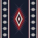 Kilim tribal, ornamento geométrico abstracto, patte inconsútil étnico stock de ilustración