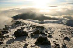 Kilimajaro峰顶,非洲 免版税库存照片