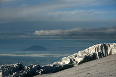 Kilimajaro峰顶,非洲 免版税图库摄影