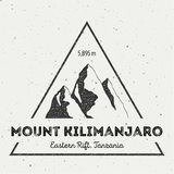 Kilimanjaro στην ανατολική ρωγμή, Τανζανία υπαίθρια απεικόνιση αποθεμάτων