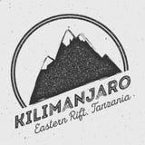 Kilimanjaro στην ανατολική ρωγμή, Τανζανία υπαίθρια διανυσματική απεικόνιση