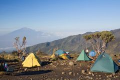 Kilimanjaro 009 het kamp van de shirahut royalty-vrije stock foto's
