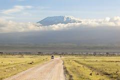 Kilimanjaro avec le chapeau de neige photo libre de droits