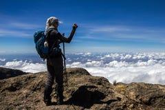 Kilimanjaro Barranco läger Fotografering för Bildbyråer