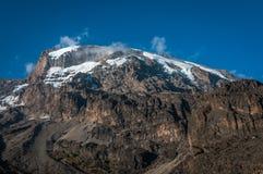 Kilimanjaro dal campeggio di Barranco Fotografia Stock