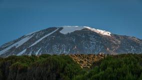 Kilimanjaro dal campo di millennio Immagine Stock Libera da Diritti