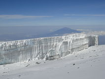 Kilimanjaro Gipfel-Gletscher Lizenzfreie Stockfotos