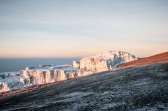 Kilimanjaro glaciär Fotografering för Bildbyråer