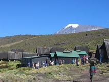 Kilimanjaro Homboro Hut. The Homboro hut during the climb of Kilimanjaro royalty free stock images