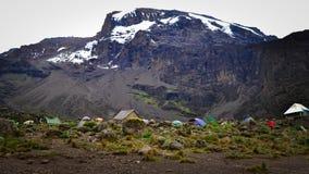 Kilimanjaro hoogste mening Stock Foto's