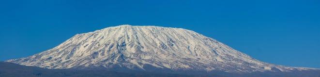 Kilimanjaro il più alta montagna nella sommità dell'Africa Fotografie Stock Libere da Diritti