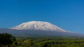 Kilimanjaro il più alta montagna nella sommità dell'Africa Immagine Stock Libera da Diritti