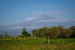 Kilimanjaro - Kibo and Mawenzi peaks Stock Photography