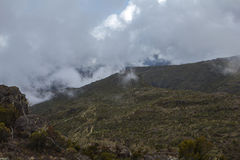 Kilimanjaro Machame rutt Royaltyfria Foton