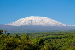Kilimanjaro mountain panoramic view Royalty Free Stock Photos