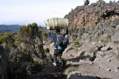 Kilimanjaro porter Royalty Free Stock Photography