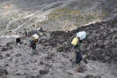 Kilimanjaro porters Royalty Free Stock Image
