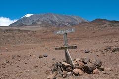 Kilimanjaro, sella Immagini Stock