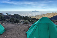 Kilimanjaro Shira Camp Royalty Free Stock Images