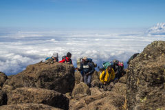 Kilimanjaro Shira Camp Royalty Free Stock Photos