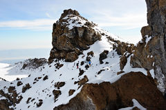 Kilimanjaro summit Royalty Free Stock Photo