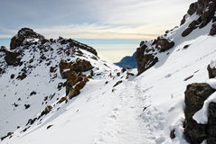 Kilimanjaro summit Stock Photography