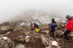 2014 02 Kilimanjaro, Tanzanie : Itinéraire de Machame sur la montagne jour 4 image stock