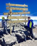 Kilimanjaro toppmöte arkivbilder