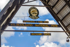 Kilimanjaro trekking. Trekking kilimanjaro tanzania machame tour Stock Photos