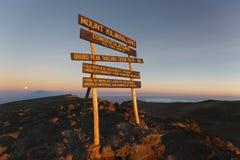 Kilimanjaro Uhuru Peak Stock Images